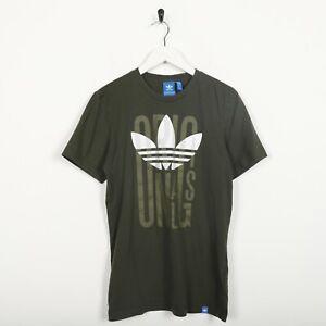 Vintage-ADIDAS-ORIGINALS-Big-Trefoil-Logo-T-Shirt-Tee-Green-Small-S