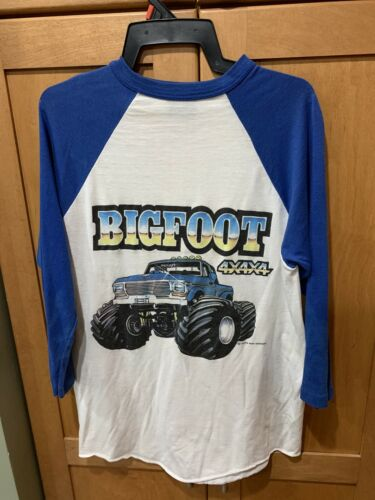 1980s Bigfoot Monster Truck Raglan Baseball T-Shir