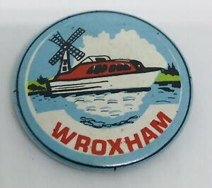 Wroxham Vintage badge Norfolk Broads Tin Plate