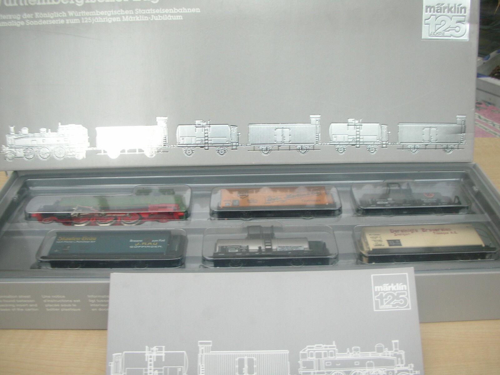 Marklin 2857, ottimo treno, Lok T 5 + 5 carri della K.W. ST. e, Nuovo, Confezione Originale