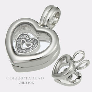 Authentic pandora silver floating heart locket with cz heart image is loading authentic pandora silver floating heart locket with cz mozeypictures Image collections