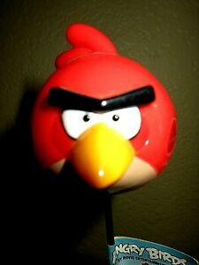 Details about Angry Birds Red Bird Plant Flower Stake~ Terence Red Angry  Bird ~15