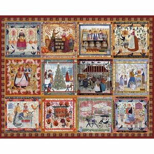 Bits and Pieces - Village Welcome Americana Quilt Puzzle - 500 Piece Jigsaw
