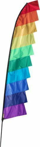 Feather Banner Flag Kits 4-6m pole multicolours festivals camping