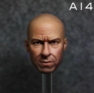 1//6 Custom Vin Diesel Head Sculpt For hottoys Veryhot figure Phicen Body A14