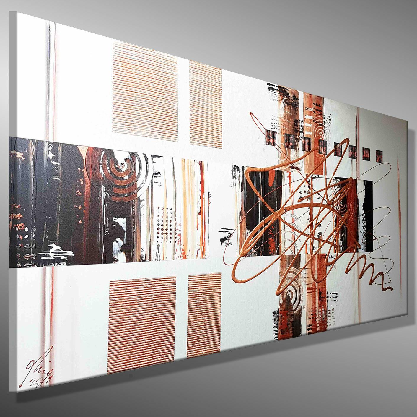 ABSTRAKTE MALEREI WANDBILD Leinwand Moderne KUNST Bilder MICO 120x60 Acrylbild