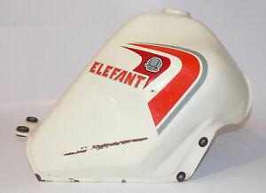 1980-039-S-CAGIVA-ALETTA-ROSSA-ELEFANT-125-FUEL-TANK-GAS-PETROL-WHITE-DUCATI-ITALY