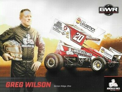 """SIGNED 2019 JACOB ALLEN /""""DIESEL ALL DEF/"""" #1A WORLD OF OUTLAW SPRINT CAR POSTCARD"""