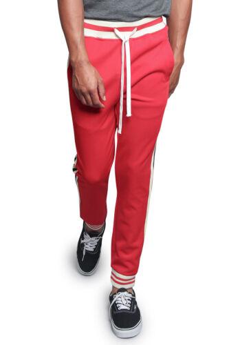 Men/'s G Striped Waistband Drawstring Jogger Workout Track Pants S~5XL TR577-F1G