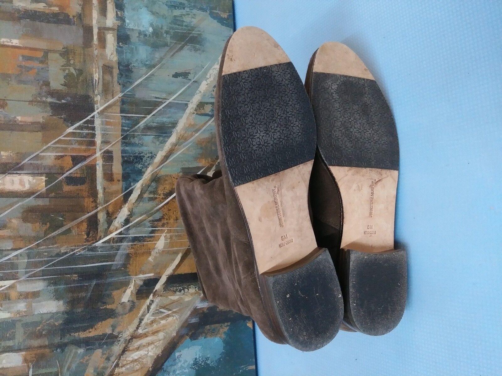 Damenschuhe 8 M Johnston Suede & Murphy  Tall Suede Johnston 78-50252 Fashion Stiefel Dark Braun 7dbcbe