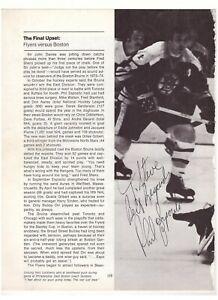 PHIL ESPOSITO VINTAGE SIGNED NHL HOCKEY PROGRAM MAGAZINE 8x10 PHOTO AUTOGRAPH