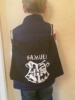 GYM SCHOOL DRAWSTRING COTTON BAG NEW PERSONALISED HARRY POTTER NAMED  PE SWIM