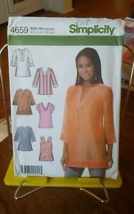 Oop-Simplicity-4659-misses-tops-caftan-tunics-sleeve-variations-sz-6-12-NEW