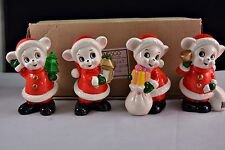 Vintage Set of 4 Enesco Japan Mice Figurines MIB