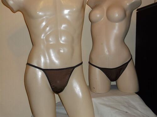 His and Hers Undies Bikini Brief Seamless Spandex Brown America made 1 day ship