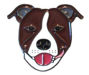 marron-oscuro-Perro-Staffordshire-Bull-Terrier-Esmalte-Metalico-PRENDEDOR-PIN