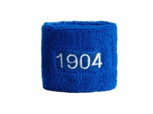 Schweißband Fahne Flagge 1904 Schalke 7x8cm Armband für Sport