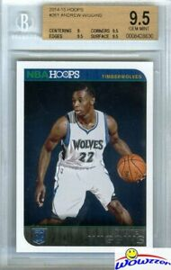 2014-15-Panini-Hoops-261-Andrew-Wiggins-FIRST-NBA-ROOKIE-BGS-9-5-GEM-MINT-Wolves