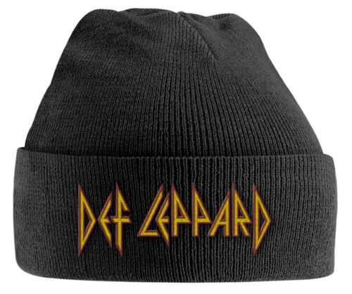 Black Beanie Hat NEW /& OFFICIAL! Def Leppard /'Red//Yellow Logo/'