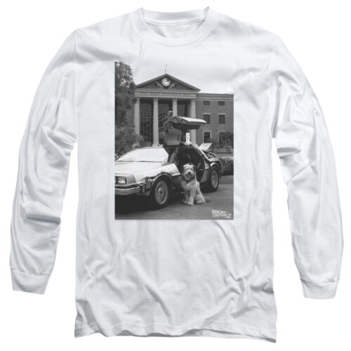 Back to the Future Movie Photo EINSTEIN Dog Adult Long Sleeve T-Shirt S-3XL