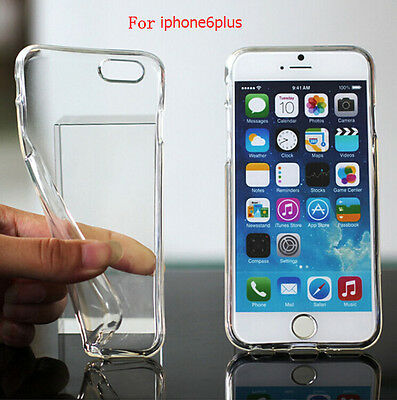 Transparent Soft TPU Clear Crystal Silicone Gel Cover Case for iPhone 6 Plus