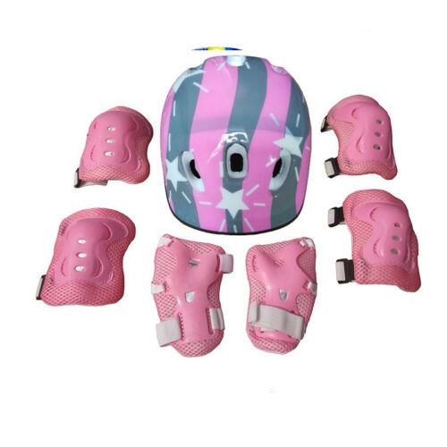 Boys Girls Kids Safety Helmet /& Knee /& Elbow Pad Set For Cycling Skate Bike UK