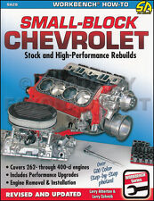 How to Rebuild Chevy V8 Engine Book 600 Photos 400 350 327 307 305 283 1955-1994