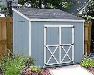 4 39 x 8 39 slant lean to style shed plans building for Slant roof shed