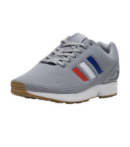 separation shoes 4181e 98b6a Details about adidas Originals Zx Flux Grey / Red / White / Blue Casual  Shoes Sz 9 BB2768