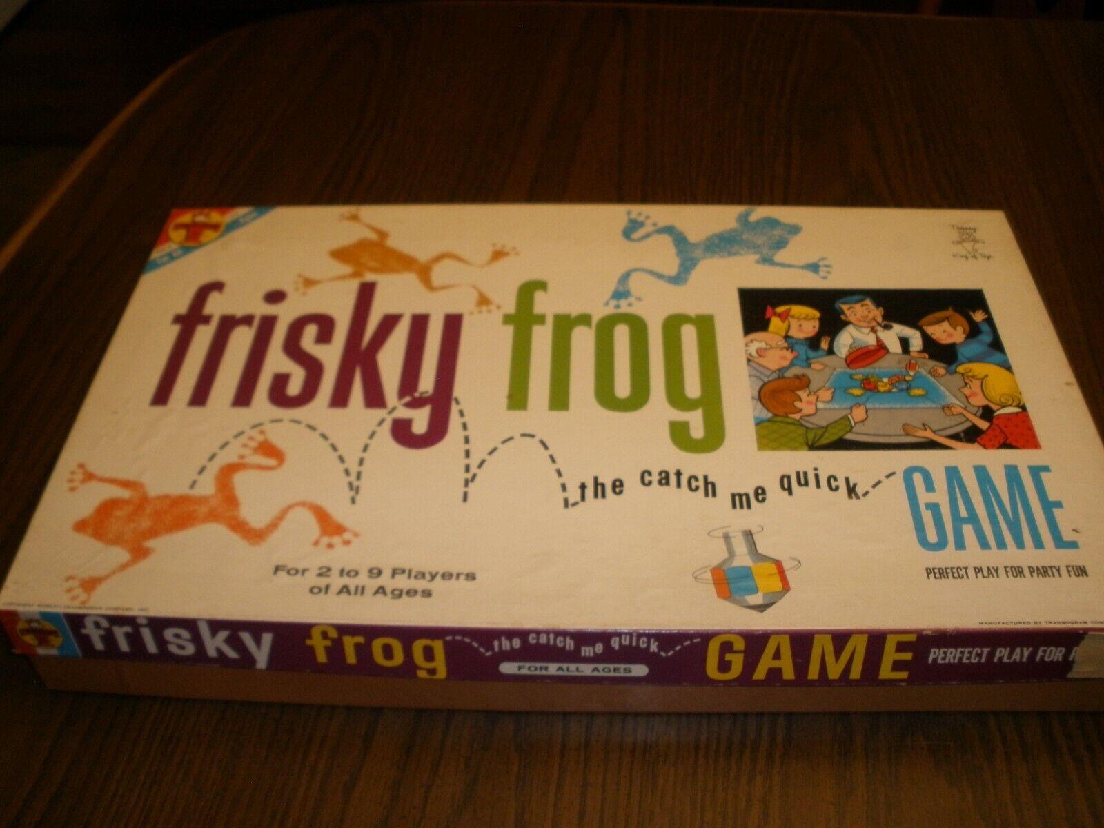 artículos novedosos 1962 Juego Raro Frisky Frog Catch Transogram Transogram Transogram me juego rápido  Venta barata