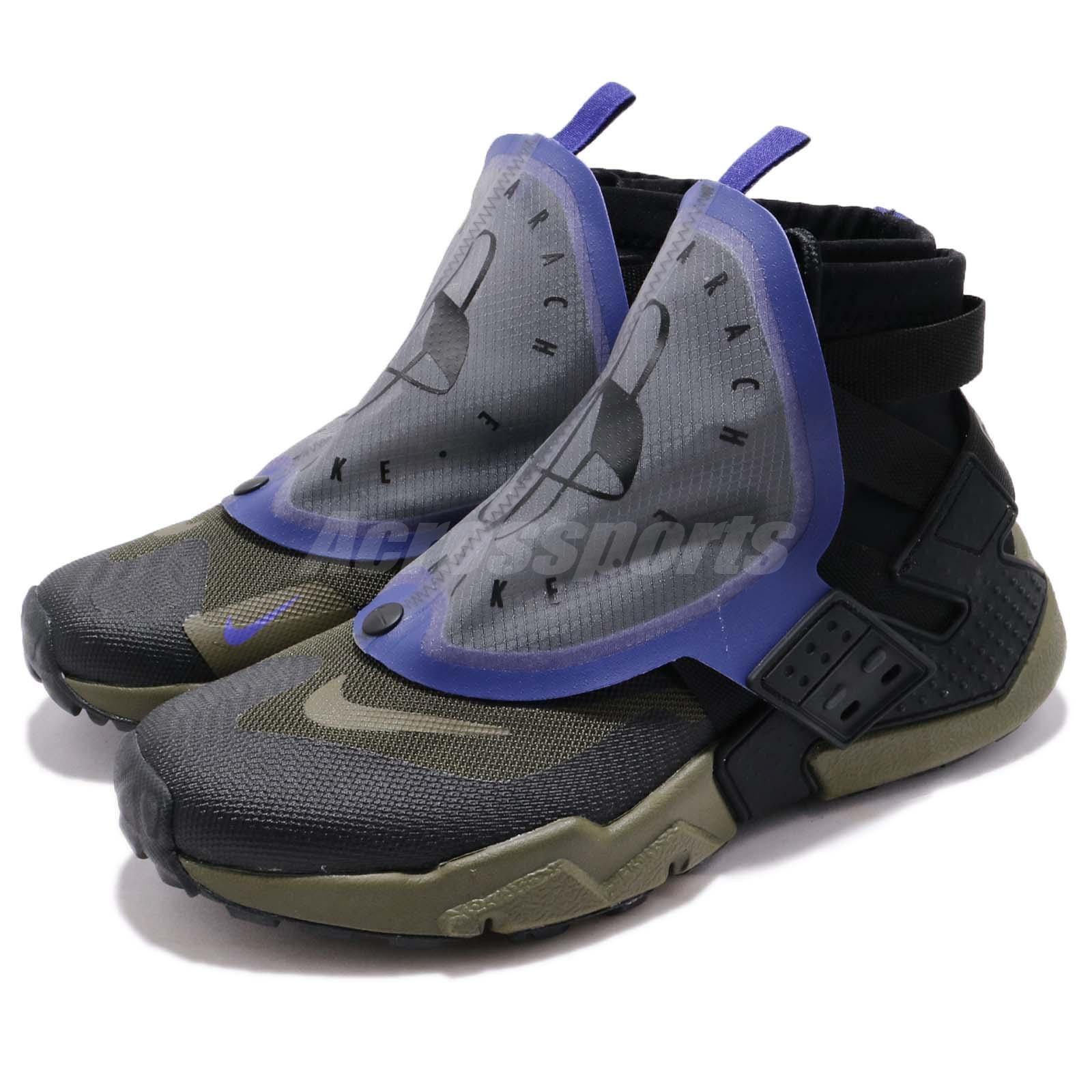 Nike Air Huarache Gripp QS Black Olive Canvas Zipper Men Running shoes AT0298-001