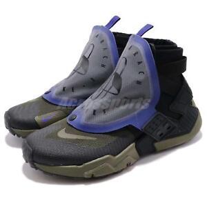 25a017ba7be1 Nike Air Huarache Gripp QS Black Olive Canvas Zipper Men Running ...