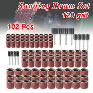 102x-1-2-034-1-4-034-3-8-034-Schleifbaender-Schleifhuelsen-Schleifwalze-Koernung-Werkzeug-Set