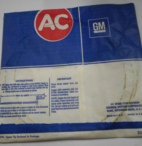 AC Delco NOS GM 70/'/' Speedometer Cable Kit GM 6477499 Corvette Chevelle Nova