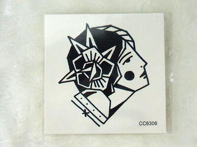 b26cc8449 Tattoo temporary tattoo old school graphic head gitane gypsy 6 x 6 cm | eBay
