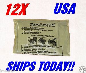 Details About 12 Usgi Surplus Wag Bags Solid Waste Disposal Ice Fishing Camping Emergency