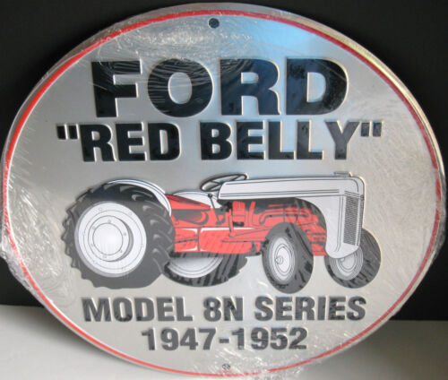 APO /&FPO WELCOME FORD RED BELLY TRACTOR ROUND 12 INCH METAL SIGN,