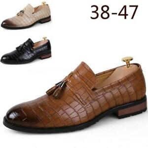 men's tassel slip on loafers casual driving moccasin shoes