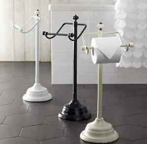 New In Box Black Ornate Free Standing Floor Toilet Paper