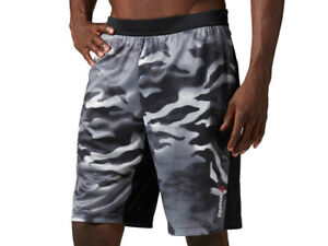 69ce6137b Men's Reebok Knit Short Spray Camo Force Running Gym Crossfit ...