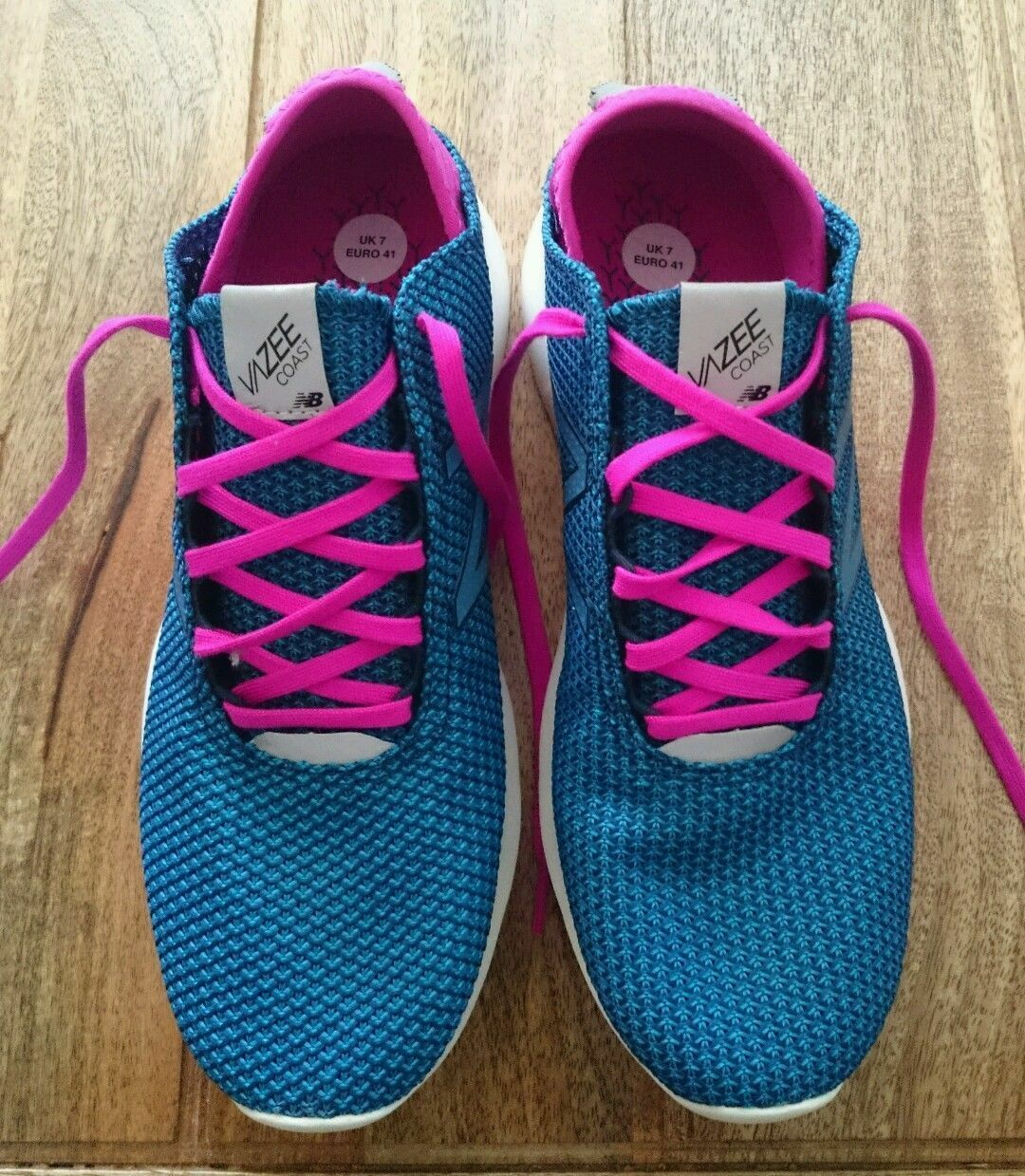Zapatos promocionales para hombres y mujeres NEW BALANCE VAZEE COAST V2 GREEN PINK TURQUOISE SNEAKERS TRAINERS 7 40.5 9