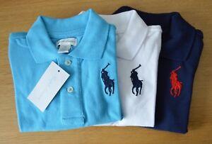 606248e7 RALPH LAUREN cotton mesh baby Boy polo shirt BIG PONY 3 to 24 ...