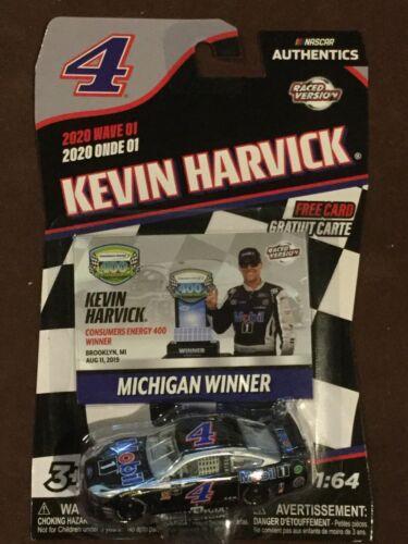 2020 Nascar Authentics Wave 1 Kevin Harvick #4 Mobil1 Michigan Winner-Ships Free