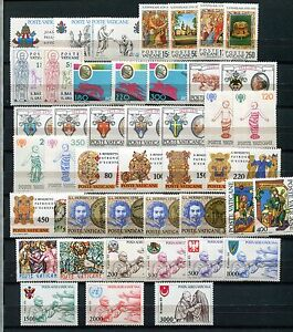 VATICAN-1979-80-MNH-COMPLETE-COLLECTION-43-Stamps