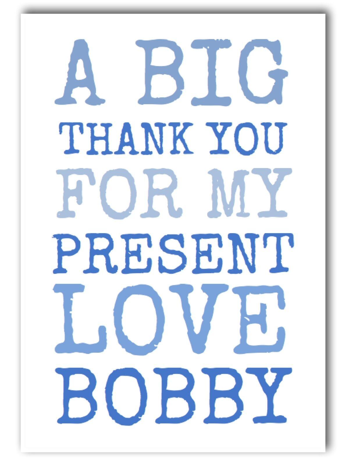 Personalizzata THANK YOU YOU YOU Carte • GIRL   BOY   bambini • font Type • piegato 5481c5