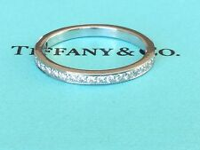TIFFANY & CO PLATINUM GRACE DIAMOND Wedding Band RING Retail $2425 SIZE 8 RARE