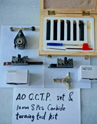 """A0 Multifix Quick Change Tool Post Kit For 120-220mm Swing Lathe 4.7 to 8.7/"""""""