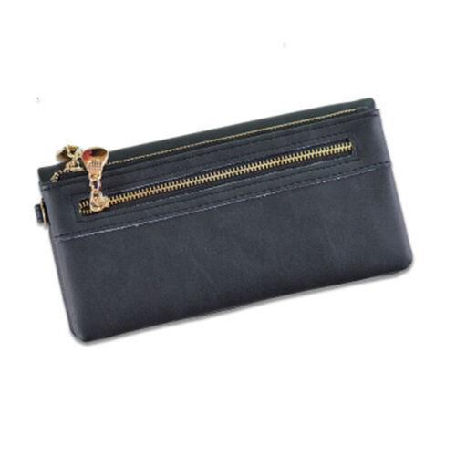 Fashion Clutch Leather Wallet Long Card Holder Phone Bag Case Purse Handbag Lady