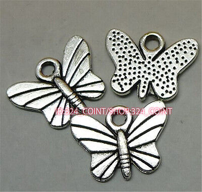 P1045 20pc Tibetan Silver butterfly Charm Beads Pendant accessories wholesale