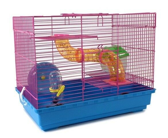 3 Level Hamster Cage Wheel Tubes House Rodents Gerbil Rat -7308